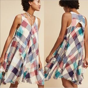 Anthropologie metallic plaid dress by MAEVE